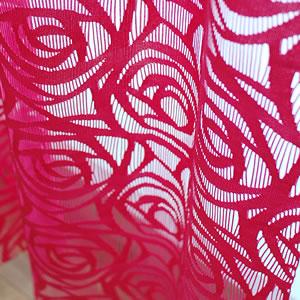 ファニーストリングカーテン ローズ(ROSE)95×176cm【パネルカーテン/北欧風】ピンクの詳細画像