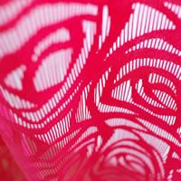 ファニーストリングカーテン ローズ(ROSE)95×176cm【パネルカーテン/北欧風】ローズの生地詳細画像