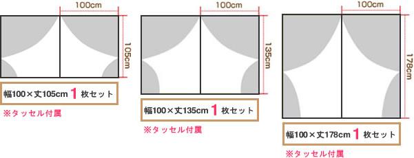 各サイズから大きさを表す簡易イメージ画像1