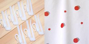 スミノエの北欧風カーテン モグ ミズタマの付属品画像