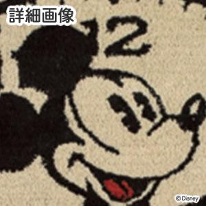ディズニー ラグマット ミッキー オンザクロックラグ【円形/おしゃれ】ブラウンの詳細画像