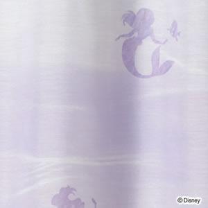 ディズニー レースカーテン プリンセス アクア 1枚入【おしゃれ】パープルの詳細画像