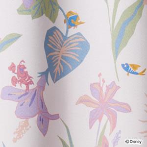 ディズニー 遮光カーテン プリンセス トロピカル 1枚入【おしゃれ】ピンクの詳細画像