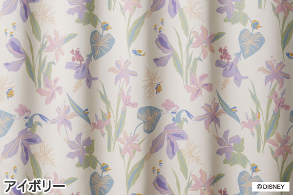 ディズニー 遮光カーテン プリンセス トロピカル 1枚入【おしゃれ】アイボリーの詳細画像