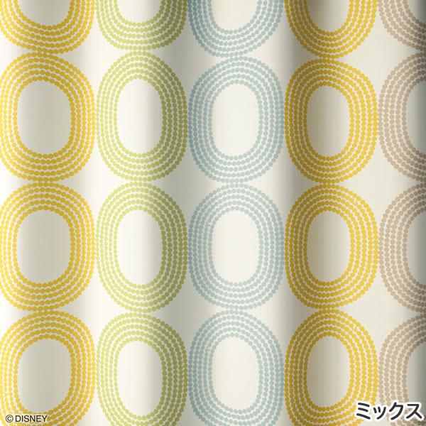 ディズニー 遮光カーテン ミッキー ドットリング 1枚入【おしゃれ】マルチの詳細画像