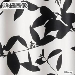 ディズニー 遮光カーテン ミッキー ブロードリーフ 1枚入【おしゃれ/北欧】ブラックの詳細画像