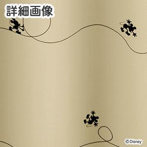 ディズニー 遮光カーテン ミッキー ライン 1枚入【おしゃれ/北欧】ベージュの詳細画像