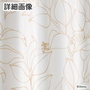 ディズニー 遮光カーテン ミッキー スリップリーフ 1枚入【おしゃれ/北欧】ゴールドの詳細画像