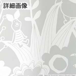 ディズニー レースカーテン プーさん インザワールド 1枚入【おしゃれ/北欧】ホワイトの詳細画像