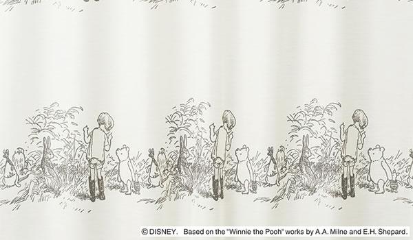 ディズニー レースカーテン プーさん シークレット 1枚入【おしゃれ/北欧】ホワイトの詳細画像