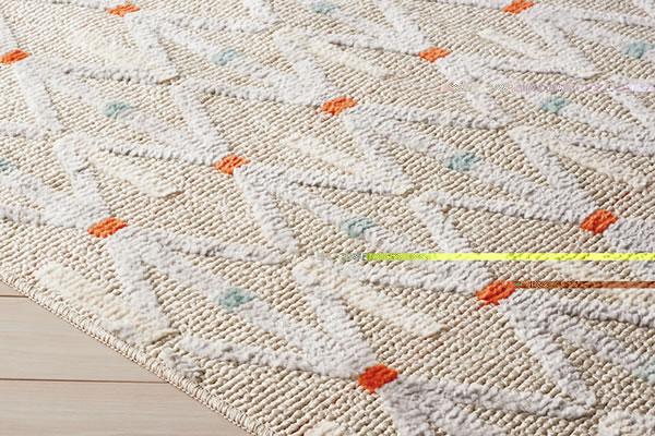 ラグマット カルル(CaRuRu)フィルメ【洗える/小さく畳める/大幅軽量化】アイボリーの詳細画像