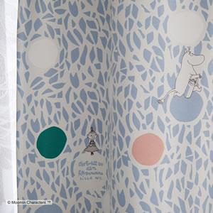 遮光カーテン ムーミン カラーサークル 1枚入【北欧/フィンランド】ブルーの詳細画像