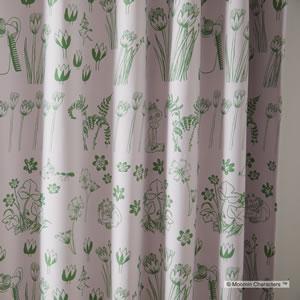 遮光カーテン ムーミン ハイドアンドシーク 1枚入【北欧/フィンランド】ピンクの詳細画像