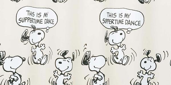 スヌーピー 遮光カーテン サパータイムダンス 1枚入【PEANUTS(ピーナッツ)】グレーの詳細画像