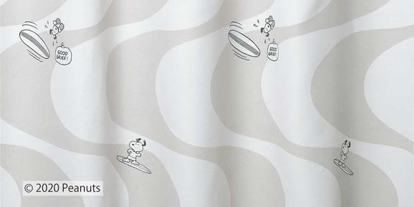スヌーピー 遮光カーテン サーフィンスヌーピー 1枚入【PEANUTS(ピーナッツ)】アイボリーの詳細画像