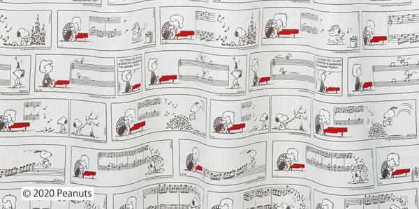 スヌーピー 遮光カーテン  シュローダー&ピアノ 1枚入【PEANUTS(ピーナッツ)】グレーの詳細画像