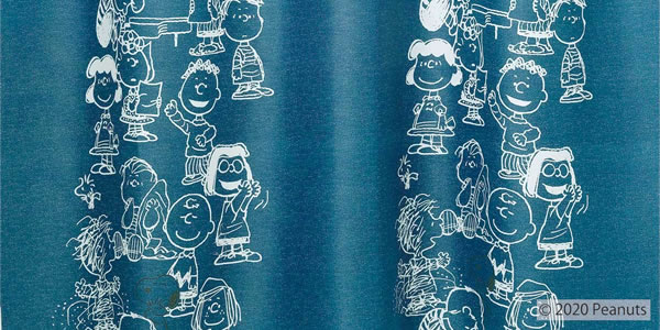 スヌーピー 遮光カーテン ミーティング 1枚入【PEANUTS(ピーナッツ)】ダークブルーの詳細画像