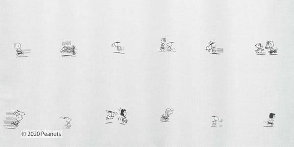 スヌーピー 遮光カーテン ランランラン 1枚入【PEANUTS(ピーナッツ)】アイボリーの詳細画像