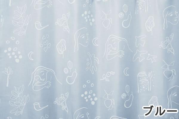 サーナ・ヤ・オッリ カーテン ランド オブ ハピネス 1枚入【北欧デザイン】ブルーの詳細画像