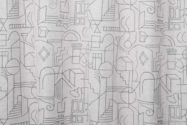 サーナ・ヤ・オッリ 遮光カーテン ハウス オブ ドリーミング 1枚入【北欧デザイン】ブラックの詳細画像