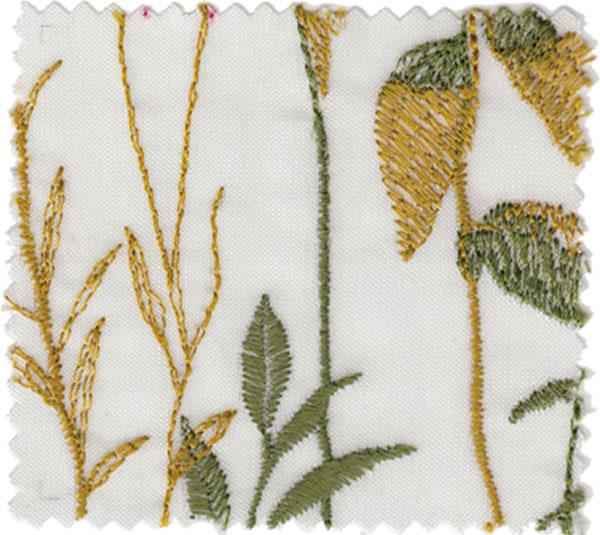 レースカーテン 刺繍 U-8008・8009 1枚入【おしゃれ/UV/省エネ】レッドの全体画像