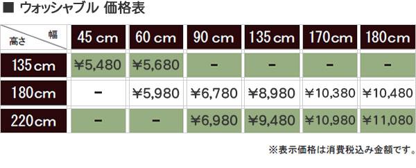 タチカワ ロールスクリーン ティオリオ ウォッシャブルの価格表