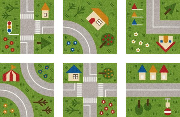 東リ ファブリックフロア キッズロード パネルカーペット【タイルカーペット】のカラーバリエーション画像