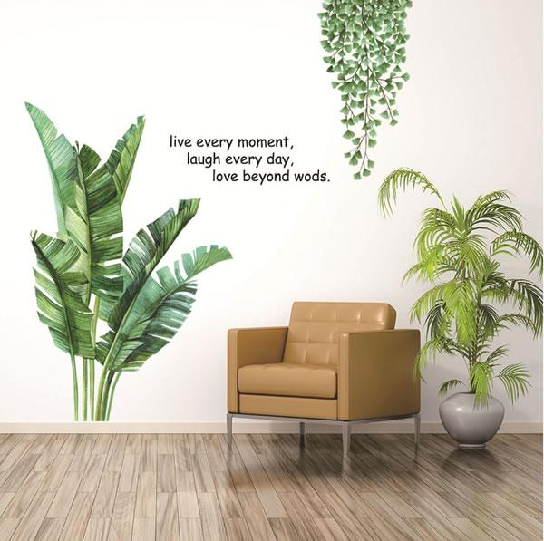 ウォールステッカー ボタニカルガーデン2 TMR【観葉植物/インテリア】の使用画像1