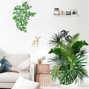 ウォールステッカー ボタニカルガーデン2 TMR【観葉植物/インテリア】の使用画像2