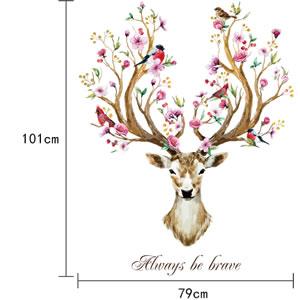 ウォールステッカー 幸運の鹿 TMR【北欧インテリア】の詳細寸法画像