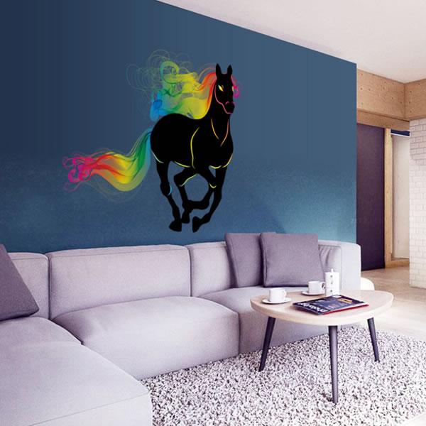 ウォールステッカー 幸運のオーラをまとう馬 TMR【北欧インテリア】の使用画像1