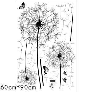 ウォールステッカー 綿毛 TMR【北欧インテリア】の詳細寸法画像