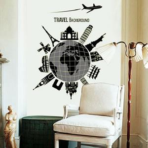 ウォールステッカー 世界一周 TMR【夜光/北欧インテリア】の使用画像2
