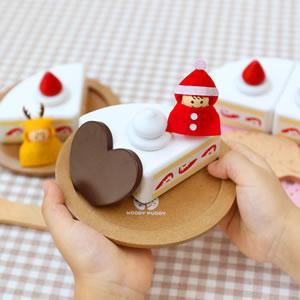 ウッディプッディ はじめてのおままごと ケーキセット【おもちゃ/キッズ/ギフト】の詳細画像