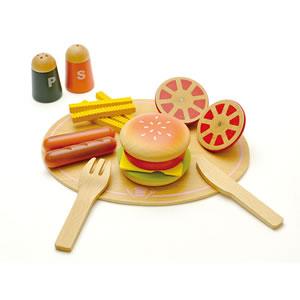 ウッディプッディ はじめてのおままごと 洋食屋さんセット【おもちゃ/キッズ/ギフト】の一例画像