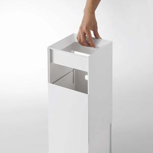 トラッシュカン タワー【ゴミ箱/おしゃれ/リビング】ホワイトの詳細画像