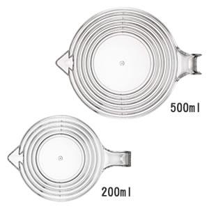 段々計量カップ レイヤー【調理器具/おしゃれ】の上部詳細画像