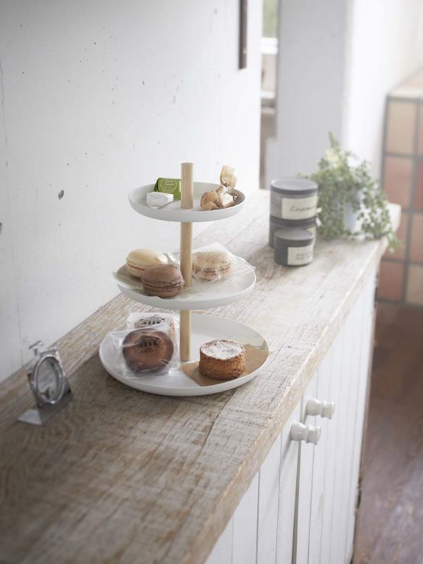 キッチントレイ トスカ(tosca)3段【キッチン収納/おしゃれ】ホワイトの使用画像