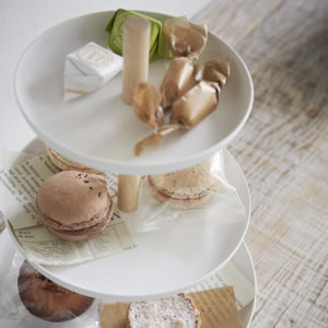 キッチントレイ トスカ(tosca)3段【キッチン収納/おしゃれ】ホワイトの詳細画像