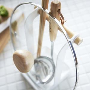 お玉&鍋ふたスタンド トスカ(tosca)【キッチン収納/おしゃれ】ホワイト詳細画像