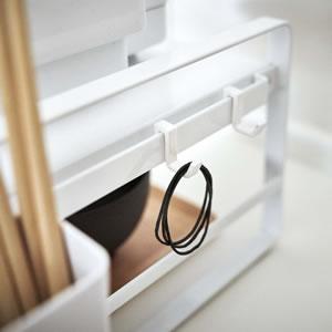 炊飯器ラック タワー【キッチン収納/おしゃれ】ホワイトの画像