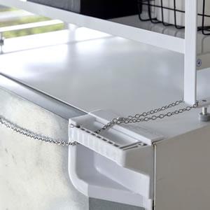 冷蔵庫上収納ラック タワー【キッチン収納/おしゃれ】ホワイトの画像