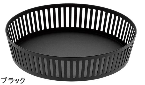 フルーツバスケット タワー【キッチン収納/おしゃれ】ブラック浅型の全体画像