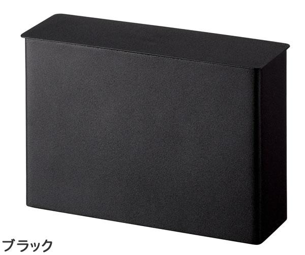コーヒーペーパーフィルターケース タワー【キッチン収納/おしゃれ】ブラックの全体画像