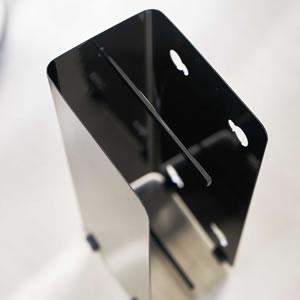 ゴム手袋収納ラック タワー【キッチン収納/おしゃれ】ブラックの詳細使用画像
