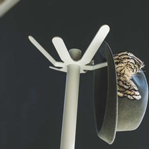 ポールハンガー タワー【収納/おしゃれ】ホワイトの詳細画像
