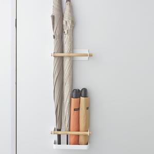 マグネットアンブレラスタンド トスカ ホワイト【玄関収納/おしゃれ】の展示画像