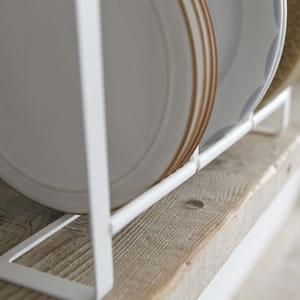 ディッシュラック トスカ ワイドL ホワイト【キッチン収納/おしゃれ】の詳細画像