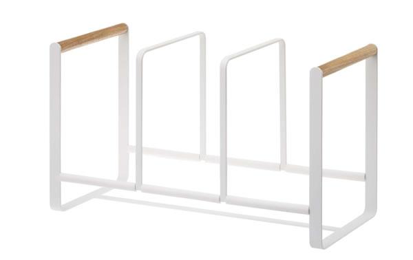 ディッシュラック トスカ ワイドL ホワイト【キッチン収納/おしゃれ】の全体画像