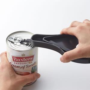 オープナー タワー【キッチン雑貨/おしゃれ】ブラックの缶詰使用画像